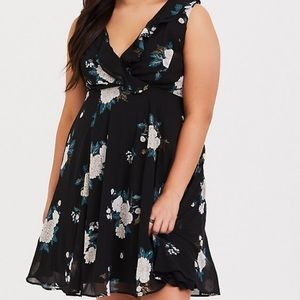 TORRID Black Floral Dress